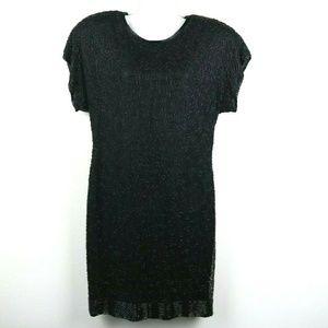Stenay Womens Dress Short Sleeve Knee Length Silk